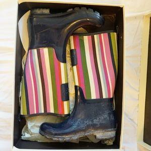 Coach Striped Rain Boots